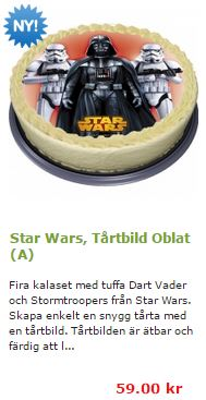Star wars fototårta