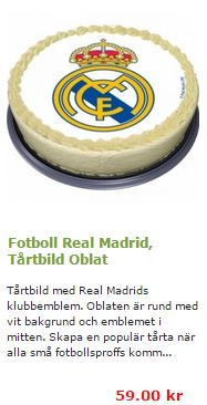 real madrid tårta