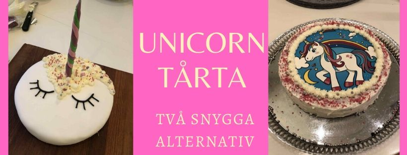 unicorn tårta