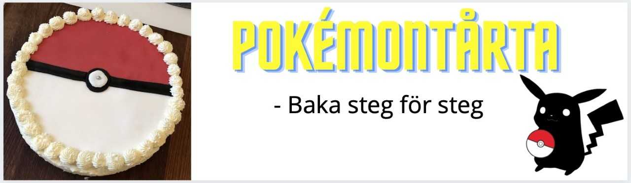 Pokemontårta guide